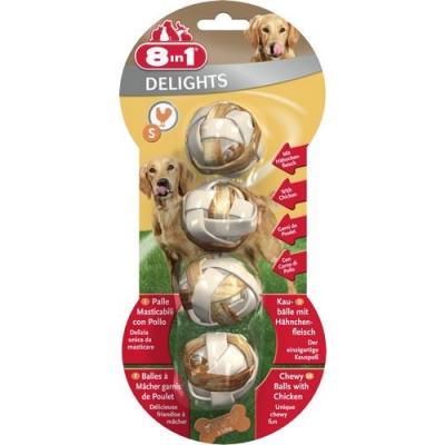 8 in 1 - 8 in 1 Delight Balls Köpek Ödül Kemikleri 4\'LÜ Small