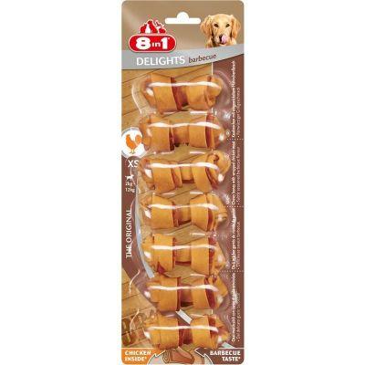 8 in 1 - 8 in 1 Delights Barbecue Köpek Ödül Kemiği 7\'li XS