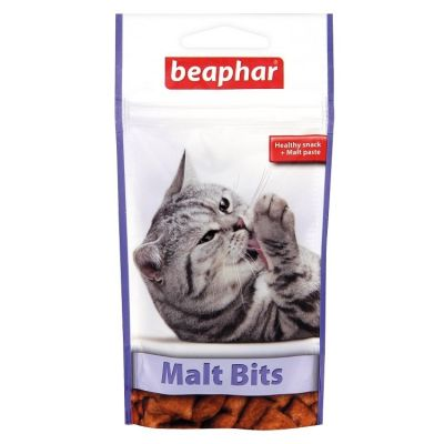 Beaphar - Beaphar Malt Bits Tüy Yumağı Önleyici Kedi Ödül Tableti 35 Gr
