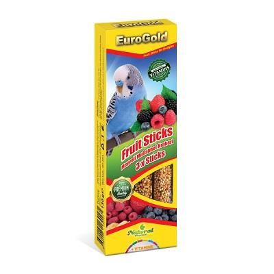 EuroGold - EuroGold Meyveli Muhabbet Kuşu Krakeri 3 lü 130 Gr