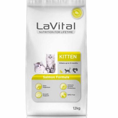 La Vital - La Vital Kitten Somonlu Yavru Kedi Maması 12 KG