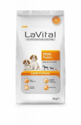 La Vital - La Vital Mini Puppy Kuzu Etli Küçük Irk Yavru Köpek Maması 2 KG