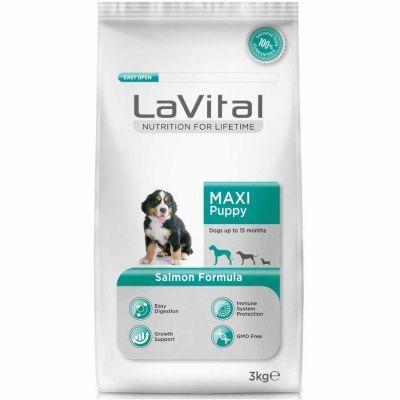 La Vital - La Vital Somonlu Maxi Yavru Köpek Maması 3 Kg