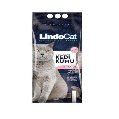LindoCat - Lindo Cat Parfüm Kokulu Kalın Taneli Topaklanan Kedi Kumu 10 Lt