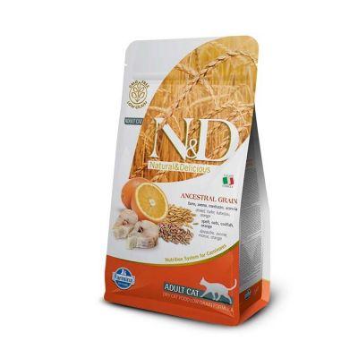 N&D - N&D Düşük Tahıllı Morina Balıklı Portakallı Yet Kedi Maması 1,5KG