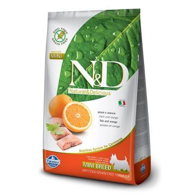 N&D - N&D Tahılsız Balık Portakal Küçük Irk Yetişkin Köpek Maması 7 KG