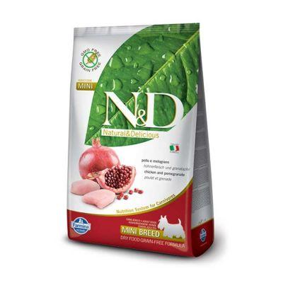 N&D - N&D Tavuklu Narlı Tahılsız Küçük Irk Yetişkin Köpek Maması 7 KG