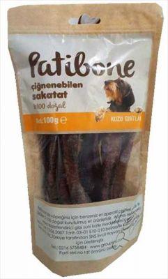 Diğer - Patibone Çiğnenebilen Kuzu Gırtlak Köpek Ödülü 100 GR