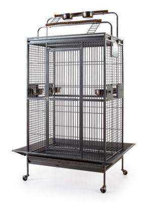 QH PET CAGE - Qh Pet Cage Gümüş Papağan Kafesi 81 x 59 x 168 cm