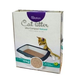 Diğer - Relation Ultra Compact Natural Topaklanan Kokusuz Kedi Kumu 10 Kg