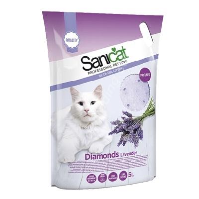 Sanicat - Sanicat Diamonds Lavender Silika Kedi Kumu 5 Lt