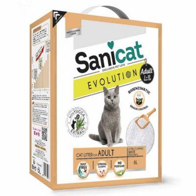 Sanicat - Sanicat Evolution Adult Yetişkin Kedi Kumu 6 LT