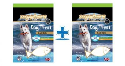Sapphere - Sapphere Cod Rolls Mezgitli Köpek Ödülü 70 Gr (1 Alana 1 Bedava )