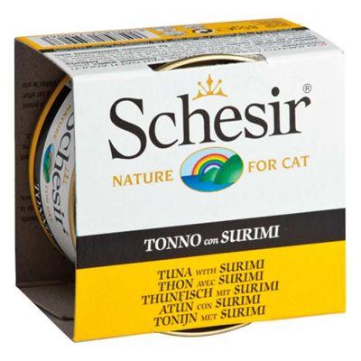 Schesir - Schesir Ton Balıklı Ve Yengeç Etli Jöleli Kedi Konservesi 85 Gr