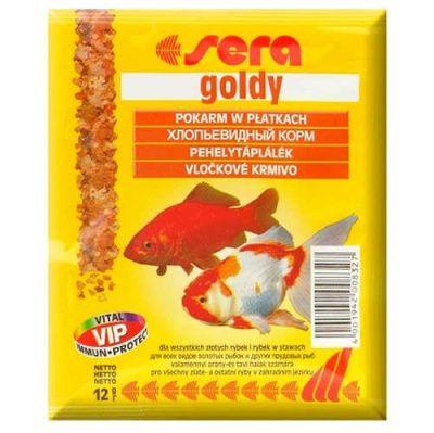 Sera - Sera Goldy Japon ve Havuz Balıkları İçin Pul Balık Yemi 12 Gr