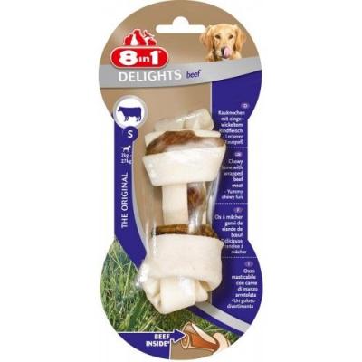 8 in 1 - 8in1 Delights Bones Biftekli Köpekler İçin Ağız Bakım Kemiği Small