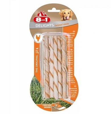 8 in 1 - 8in1 Delights Bones Köpekler İçin Twested Sticks 10 Lu