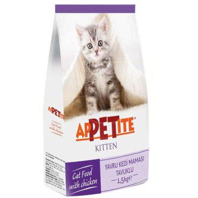 Appetite - Appetite Kitten Tavuk Etli Yavru Kedi Maması 1,5 Kg
