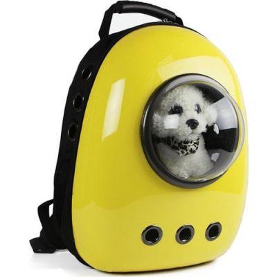 Miapet - Miapet Astronot Kedi Köpek Taşıma Çantası 43x23x29 Cm Sarı