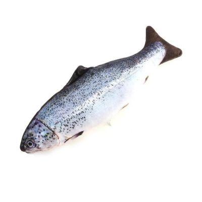 Miapet - Miapet Balık Şeklinde Peluş Kedi Köpek Oyuncağı 35 Cm