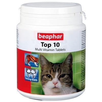 Beaphar - Beaphar Top 10 Kediler İçin Komple Vitamin Tablet (180 TABLET)