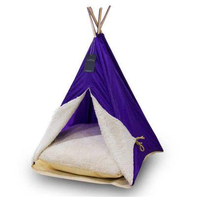 Diğer - Bedspet Kedi Köpek Çadırı Mor 50x70 Cm
