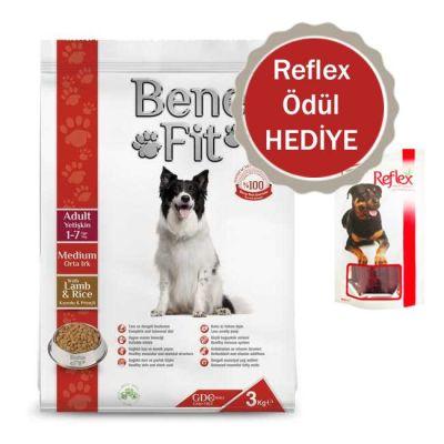 Benefit - Benefit Kuzulu Pirinçli Orta Irk Yetişkin Köpek Maması 12 Kg