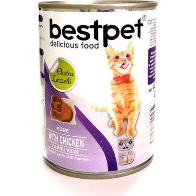 Best Pet - Bestpet Püre Kıyılmış Tavuklu Konserve Yavru Kedi Maması 400 Gr