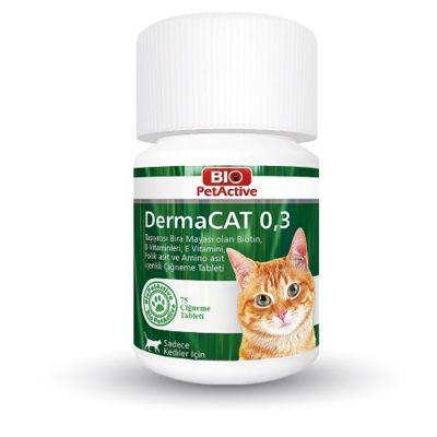 Bio Petactive - Bio PetActive DermaCat Sarımsaklı Maya Çiğneme Tableti 75 Adet