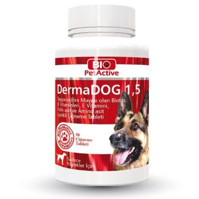 Bio Petactive - Bio PetActive DermaDog Sarımsaklı Maya Çiğneme Tableti 100 Adet