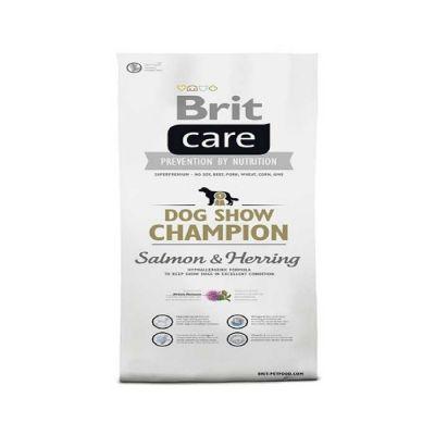 Brit Care - Brit Care Dog Show Champion Somonlu Ringalı Köpek Maması 3 Kg