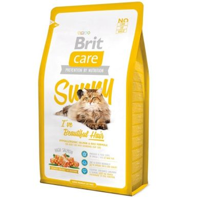 Brit Care - Brit Care Güzel Tüyler için Somonlu Yetişkin Kedi Maması 2 Kg