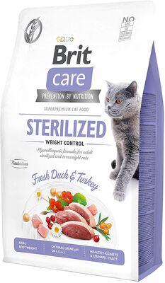 Brit Care - Brit Care Kilo Kontrolü için Ördekli Tahılsız Kısırlaştırılmış Kedi Maması 2kg