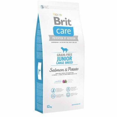 Brit Care - Brit Care Somonlu Tahılsız Büyük Irk Yavru Köpek Maması 12 Kg