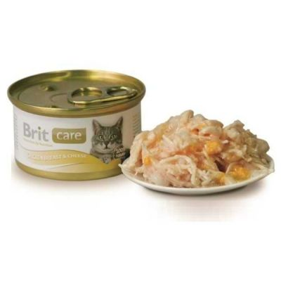 Brit Care - Brit Care Tavuklu ve Peynirli Kedi Konservesi 80Gr