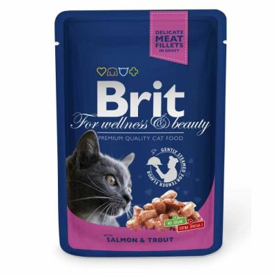 Brit Care - Brit Premium Cat Pouches Somon Balıklı Kedi Konservesi 100 Gr