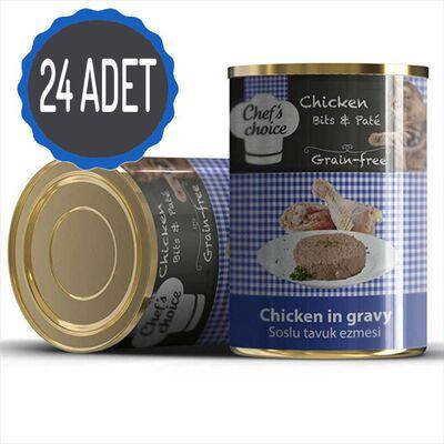 Chef′s Choise - Chefs Choice Tavuk Etli Ezme Tahılsız Kedi Konseve Maması 400 Gr x 24