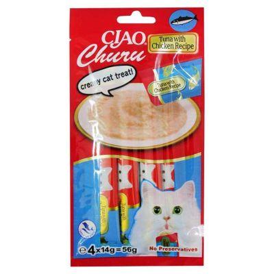 Ciao - Ciao Tuna Balıklı ve Tavuklu Kedi Sıvı Atıştırmalık Ödül 56 gr