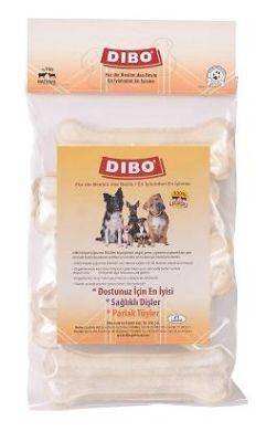 Dibo - Dibo Beyaz Pres Köpek Ödül Kemiği 13 Cm 5 Li 375 Gr