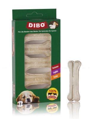 Dibo - Dibo Beyaz Pres Köpek Ödül Kemiği 5 Li 100 Gr