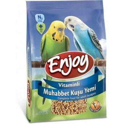 Enjoy - Enjoy Vitaminli Muhabbet Kuşu Yemi 400 Gr
