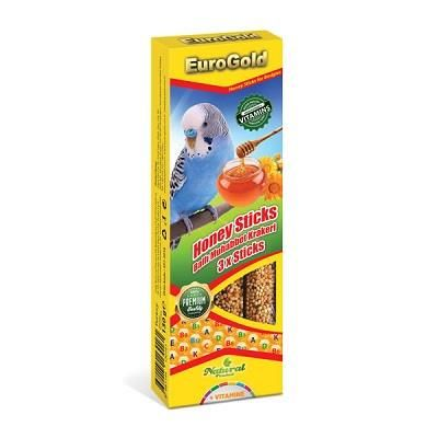 EuroGold - EuroGold Ballı Muhabbet Kuşu Krakeri 3 lü 130 Gr