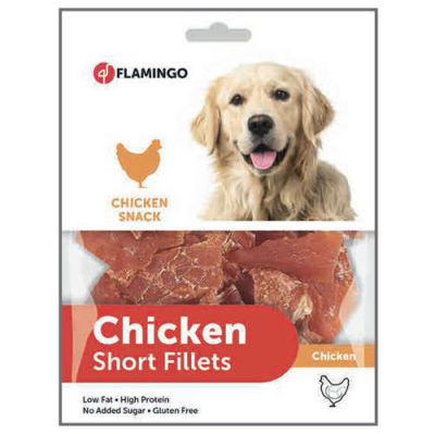 Karlie - Flamingo Chicken Short Fillets Tavuk Etli Parça Glutensiz Köpek Ödülü 170 Gr