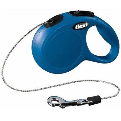 Flexi - Flexi New Classic Otomatik İp Köpek Gezdirme Tasması M 20KG 5M MAVİ