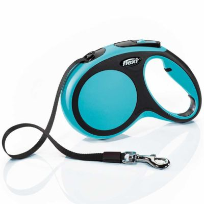 Flexi - Flexi New Comfort Otomatik Şerit Köpek Gezdirme Tasması L 50KG 8M MAVİ
