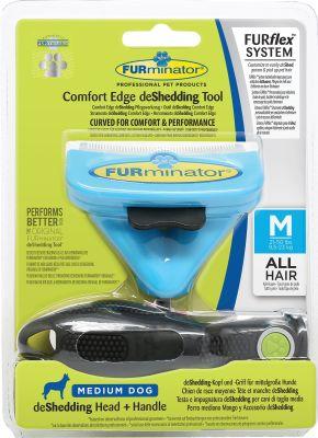 Furminator - Furminator FURflex Değişebilir Başlıklı Köpekler için Tarak Medium