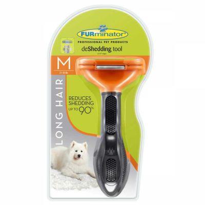 Furminator - Furminator Longhair M Dog - Uzun Tüylü Köpekler için Tarak