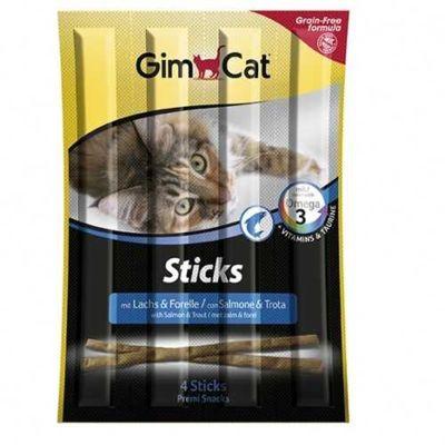 Gimcat - Gimpet-Gimcat Sticks Alabalık ve Somonlu 4 lü Çiğnenti 20 Gr