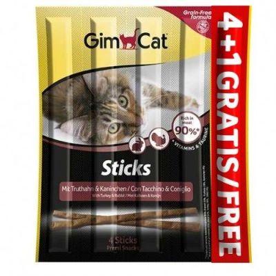 Gimcat - Gimpet-Gimcat Sticks Hindili ve Tavşanlı 4+1 Çiğnenti 20 Gr