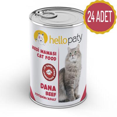 HelloPaty - HelloPaty Dana Etli Yetişkin Konserve Kedi Maması x 24